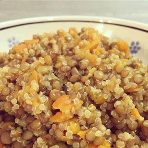 Zuppa di quinoa, lenticchie e carote 2